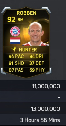 fifa 15 robben price The most expensive player in FUT 15 would be Robben